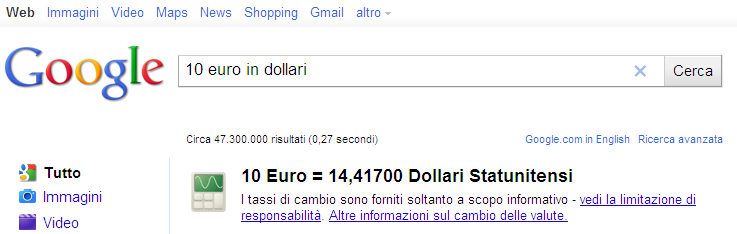 conversione valuta